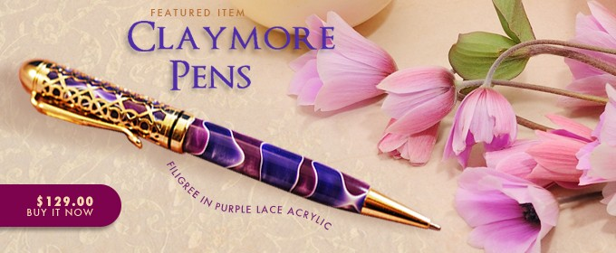 Claymore Filigree in Purple Lace Acrylic