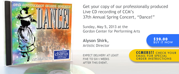 Live CD Recording of the 2013 Spring Annual Concert